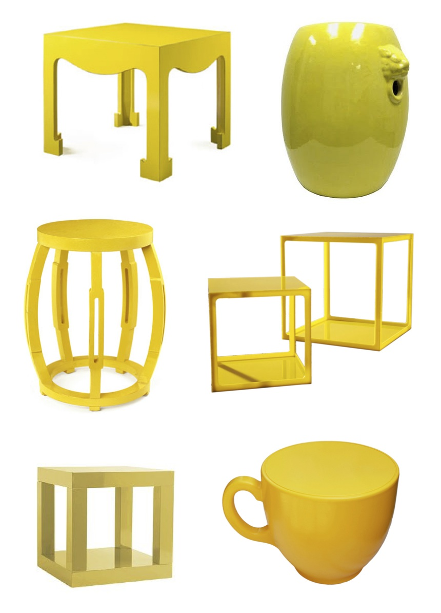 Sunny Yellow Side Tables Paint It What I Tell You
