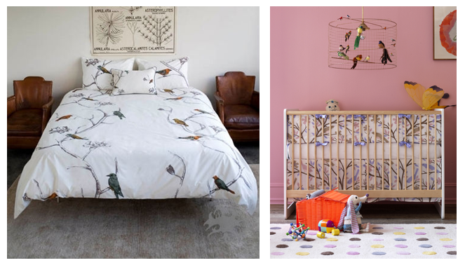 Chinoiserie Chic For Adults On The Left (image Via Dwell Studio), And  Kitschy Cute Birdies For Kids On The Right (image Via Dwell Studio).