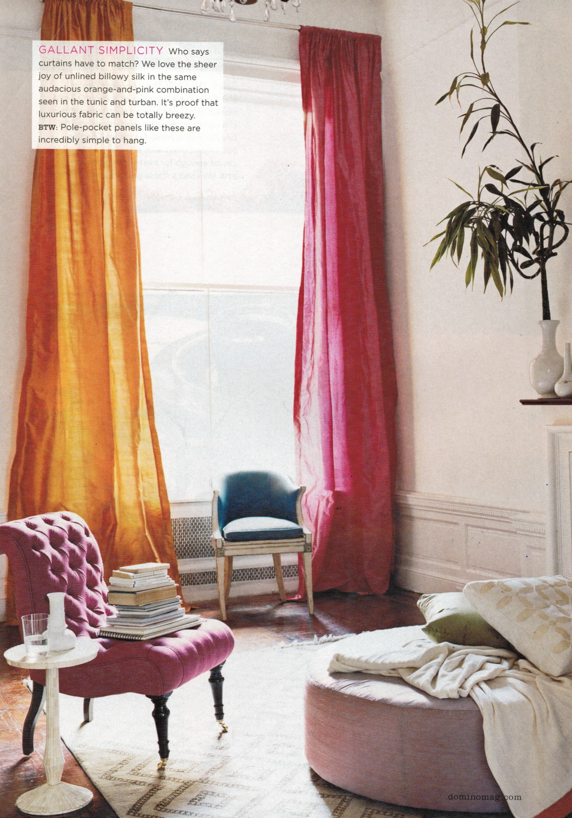 Powerful Verticals Are Lightened And Brightened By Statement Making Sheer Curtains That Gleam In The Sunlight Playing With Colors Can Be A Way To Add