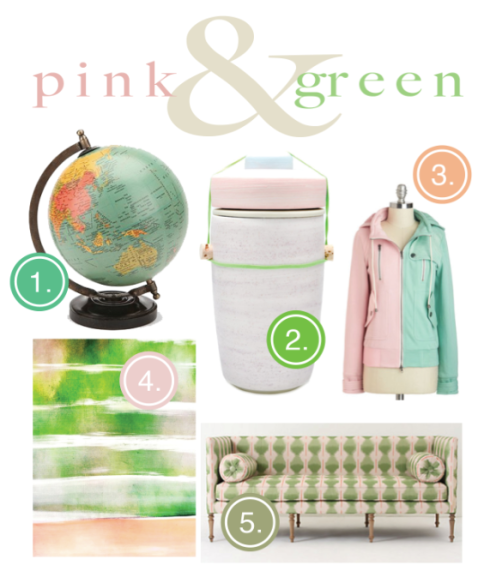 Pink and Green!