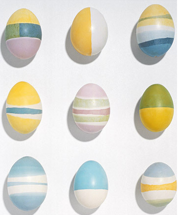 Wax Patterned Eggs