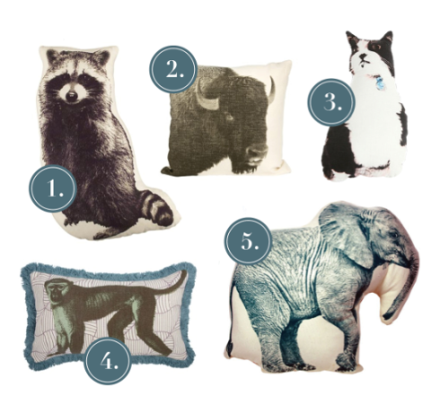 Neutral Animal Pillows
