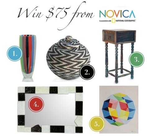 Win $75 from Novica!
