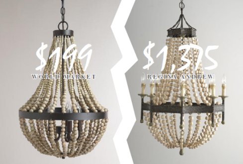Wood Bead Chandelier Look for Less