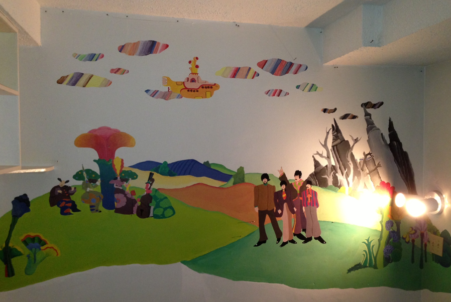 Happy monday the inherited wall mural edition paint it for Beatles wall mural
