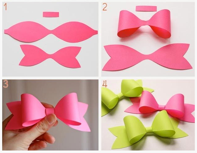 First Of All I Was Inspired By This DIY Paper Bow Tutorial Saw On Pinterest Its Not In English But Very Easy To Follow Via The Pictures