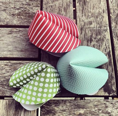 DIY Paper Fortune Cookies!